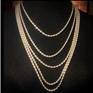 "Jewelry - CHAIN ""ROPE STYLE"" - SILVER PLATED"